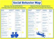 Social Behavior Map Poster – Behaviors for Learning in the Classroom